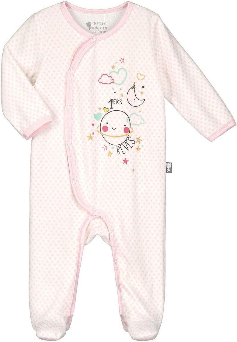 Beb/é Mono Footed Mameluco Manga Larga Bodys Linda Pijamas Terciopelo Peleles 0-3 Meses