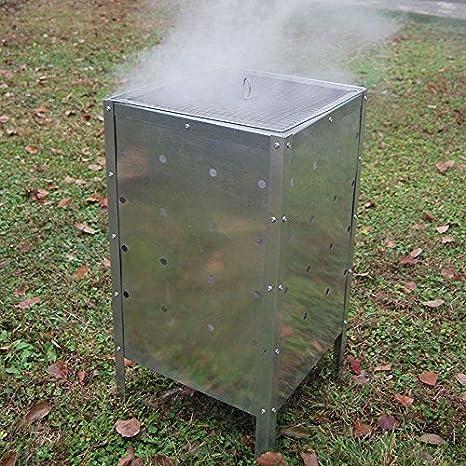 Gr8 Garden - Incinerador cuadrado grande de 90 litros, galvanizado, para quemar basura y residuos de madera: Amazon.es: Jardín