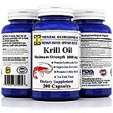 Mental Refreshment: Krill Oil 1000mg w/ Astaxanthin & Omega-3 xl - 200 Capsule (1 Bottle)