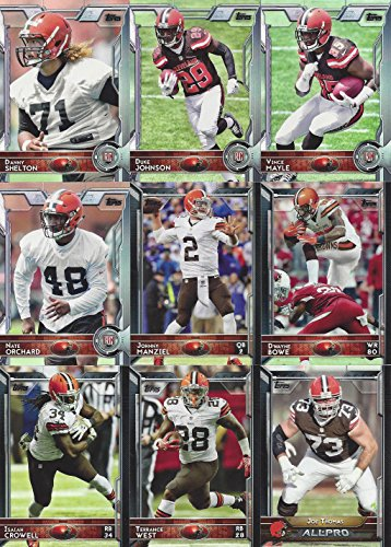 Cleveland Browns 2015 Topps NFL Football Complete Regular Issue 12 Card Team Set Including Johnny Manziel Danny Shelton Plus