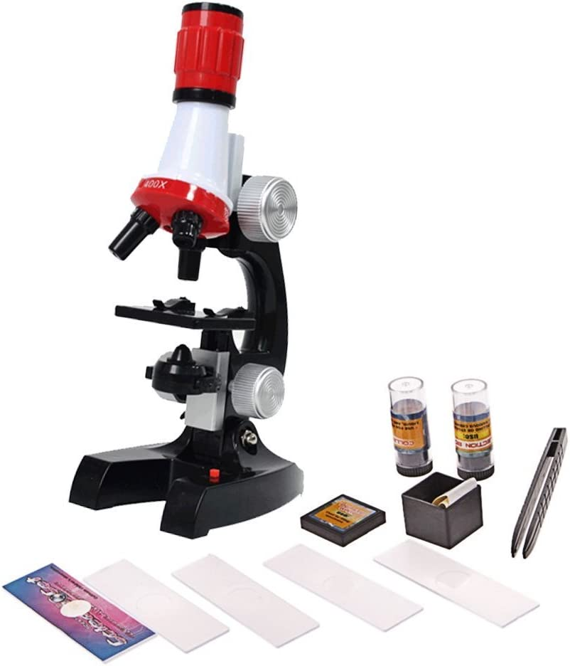 BEETEST Niños bebés temprano Ciencias de la educación laboratorio 1200X microscopio Kit instrumentos científicos juguete fijado