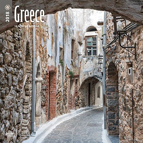 Greece 2018 12 x 12 Inch Monthly Square Wall Calendar, Scenic Travel Europe Greece (Multilingual Edition) (Scenic Featuring Photos Calendar)