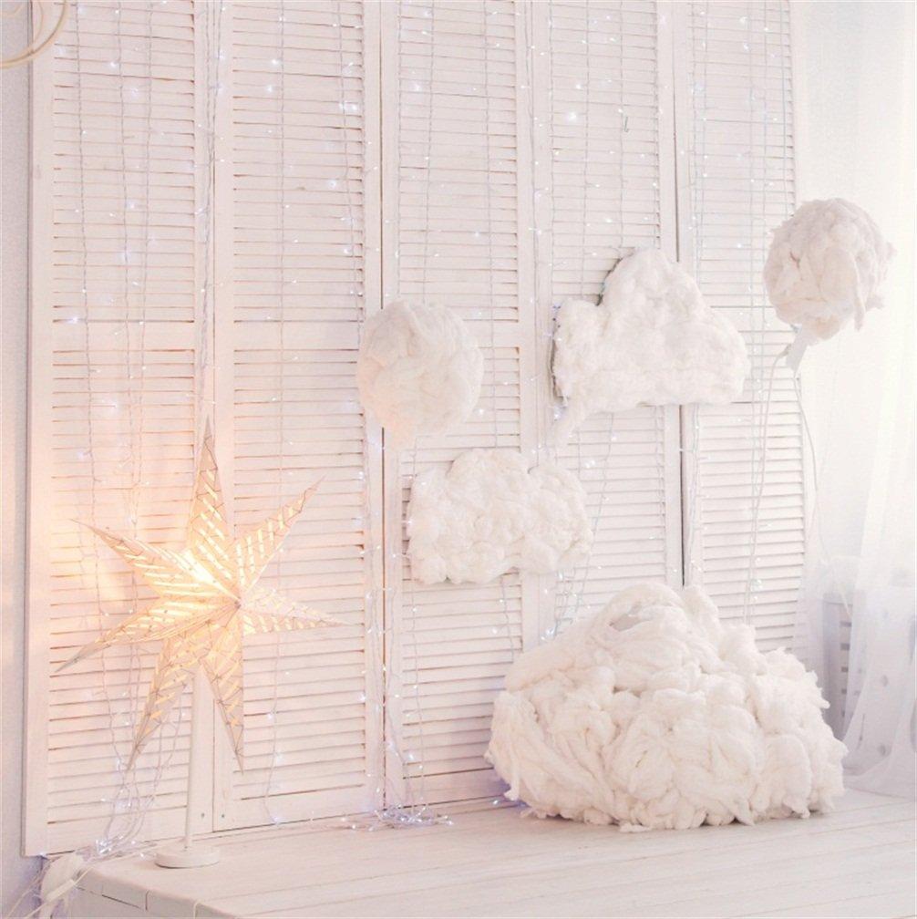 CSFOTO 4x4フィート 背景 木製 キャビネット フレーキー 雲 写真 背景 ライト 明るい 白色 部屋 屋内 インターオン スター 写真 スタジオ 小道具 子供 ポートレート ビニール 壁紙   B07F5FGXW8