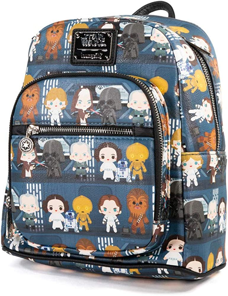 Loungefly Star Wars Chibi Death Star Battle Station Lineup Mini Backpack