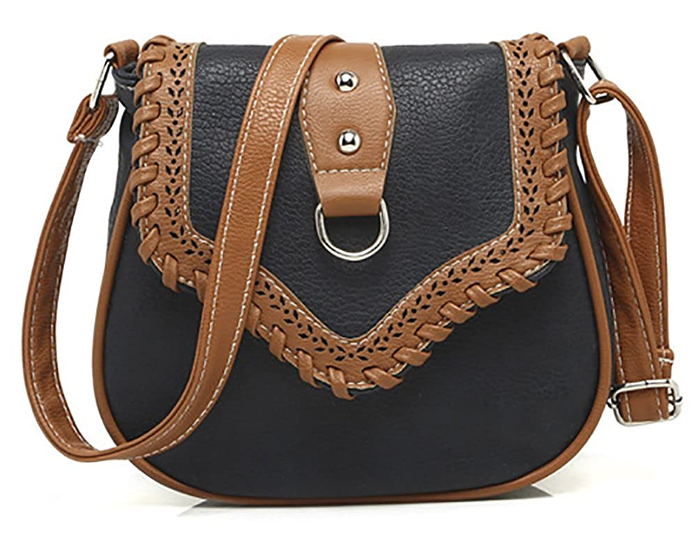0eeaa3aad7 Amazon.com  QZUnique Women s PU Sanddle Bag Studs Crossbody Handbag Hobo Access  Shoulder Bag Black  Shoes