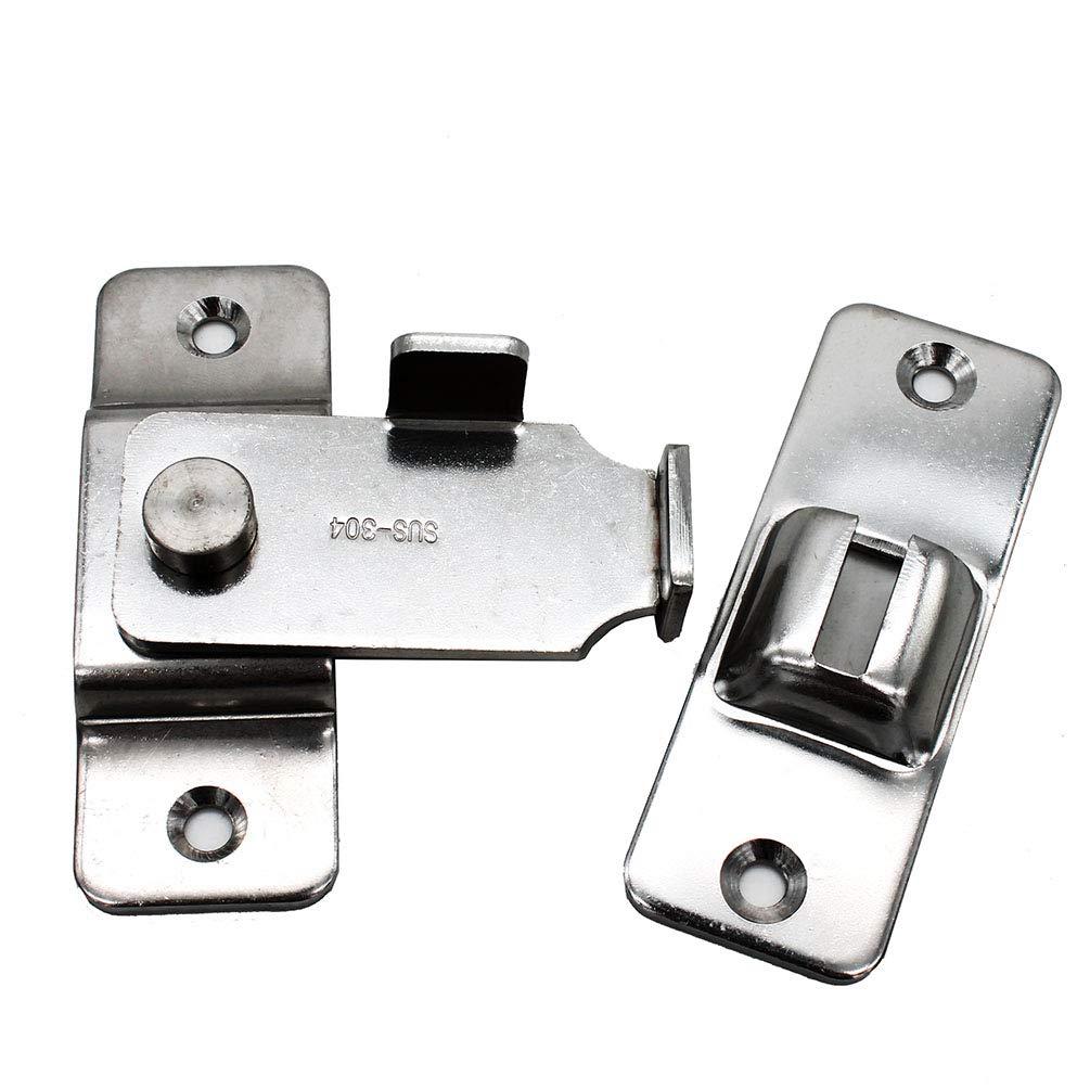 dingchi Sliding Barn Door Swivel Safety Hasp Flip Door Latch 90 Degree Heavy Duty Stainless Steel Bar Gate Latches Safety Door Lock