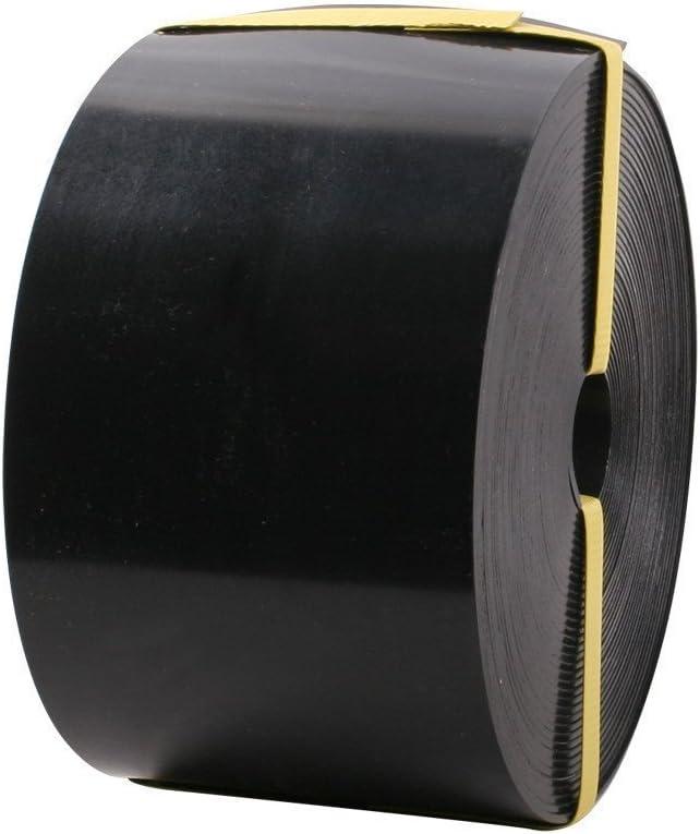 Forever Speed Rasenkante PE 2mm Rolle Glatt Kunststoff Beeteinfassung Rasenbegrenzung Beetumrandung Schwarz 10m x 12cm LxH