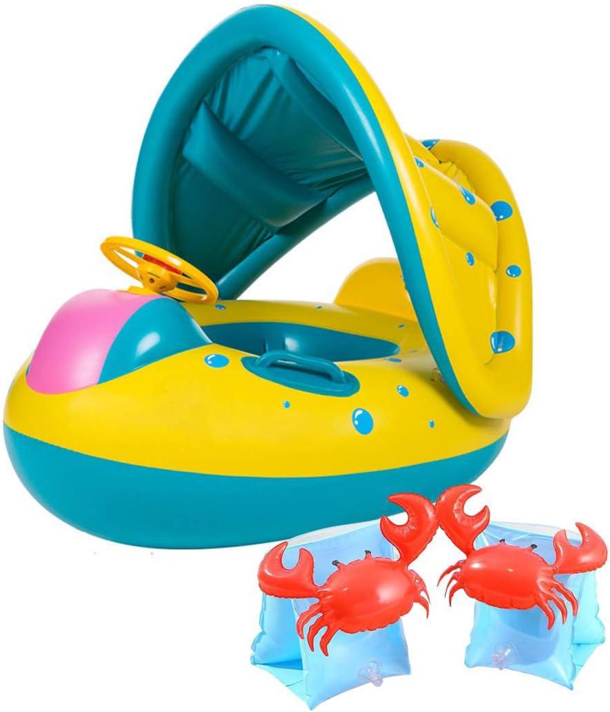 浮き輪+アームリングX2 子供 ベビー 幼児用 腕輪 補助 座付き 足入れ式 水遊び プール 海用 浮き輪 ボート 赤ちゃんおもちゃ人気 飾りおもちゃ