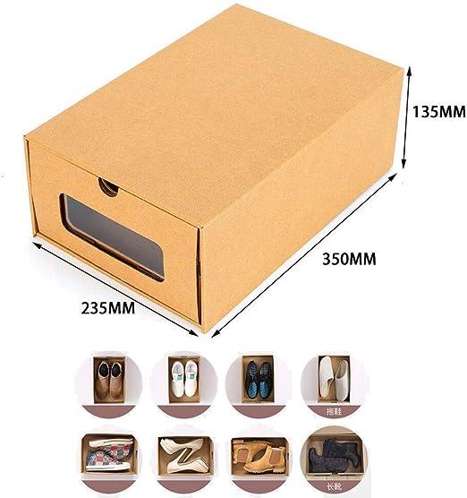 AIURLIFE Juego de Almacenamiento de Zapatos, Paquete de 20 Cajas de Almacenamiento apilables para Zapatos, cajones, Organizador de cartón: Amazon.es: Hogar