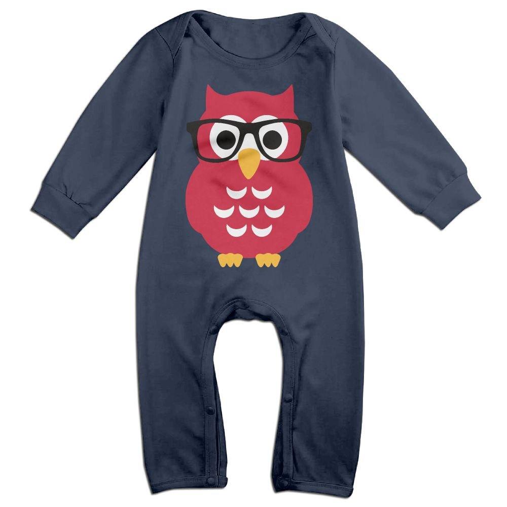 Glasses OwlBaby Long Sleeve Jumpsuit Fashion