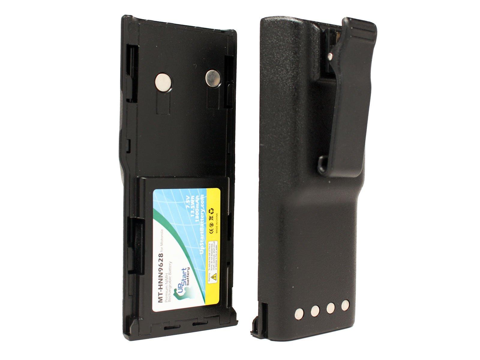 2x Pack - Motorola GP300 Battery - Replacement for Motorola HNN9628 Two-Way Radio Battery (1800mAh, 7.5V, NIMH) - Also Replaces GTX, Radius GP300, GTX800, PTX600, PRO3150, P080, P040, MTX638, LTS2000, LCS2000, GTX900, GP88S, GP88, GP600, GP308, CP250