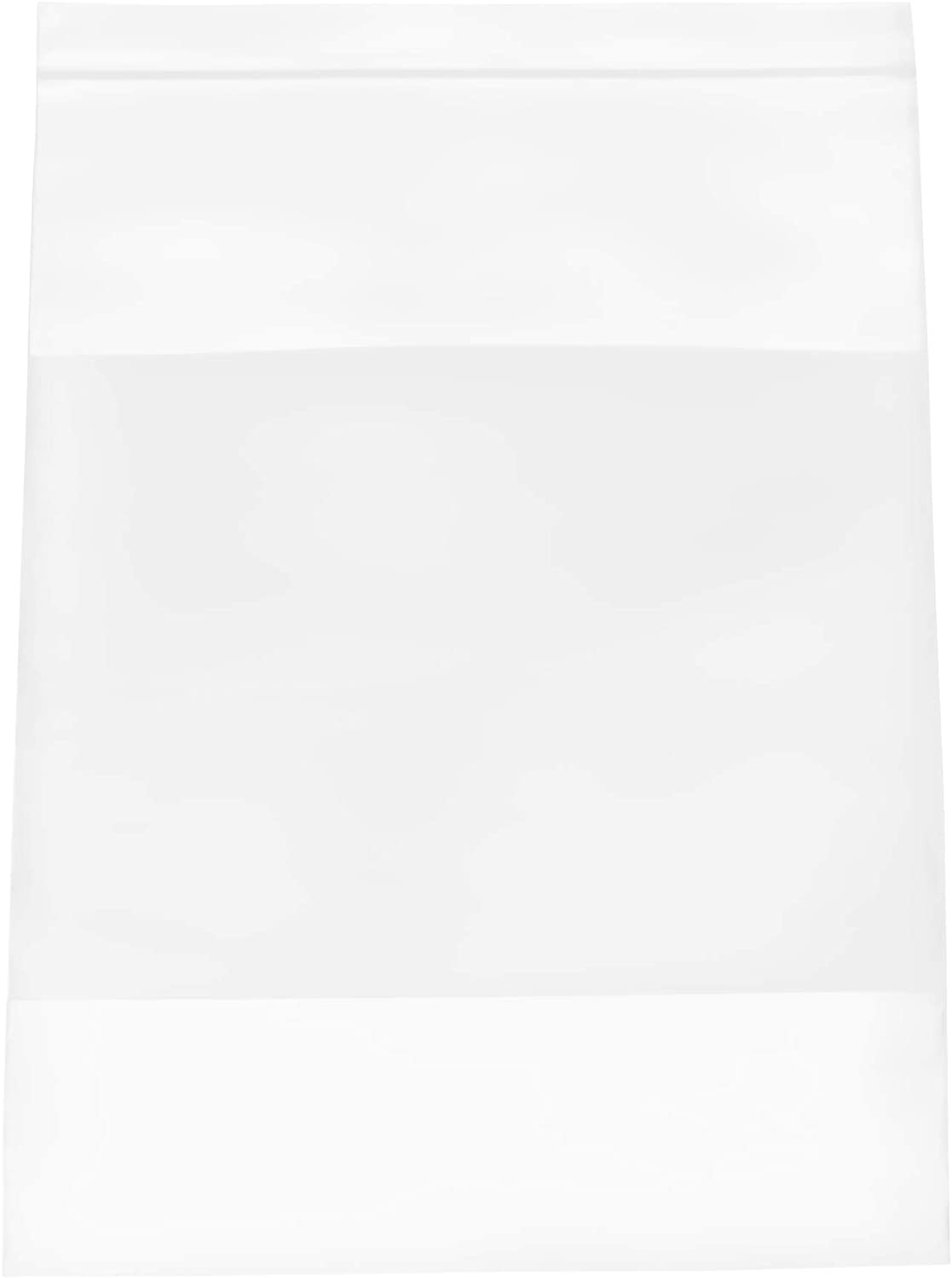 "2 Mil Ziplock Bags with White Block 8"" x 10"" Baggies Clear Plastic Storage Bags for Shipping Pack of 1000"