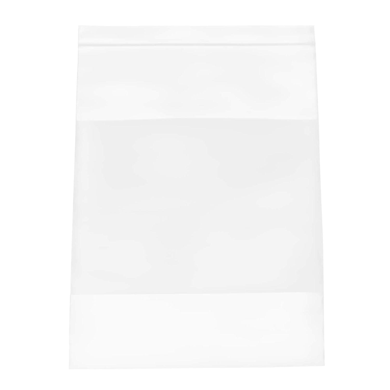4 Mil Ziplock Bags with White Block 9