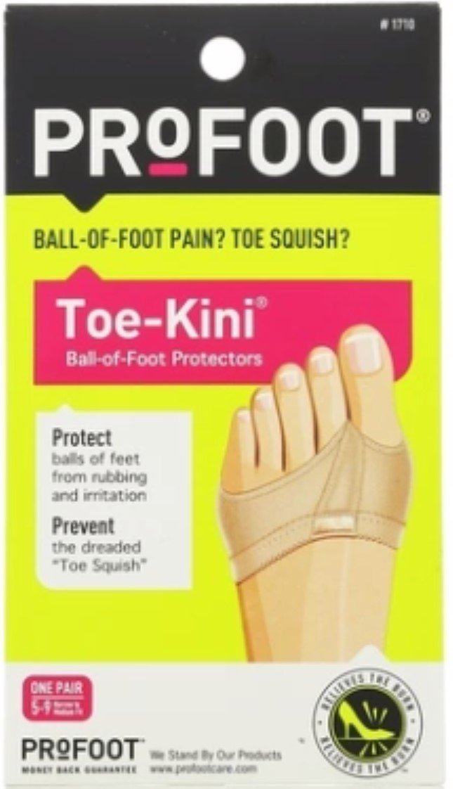 ProFoot Toe-Kini Ball-of-foot Protectors Nude 1 Pair (Pack of 4)