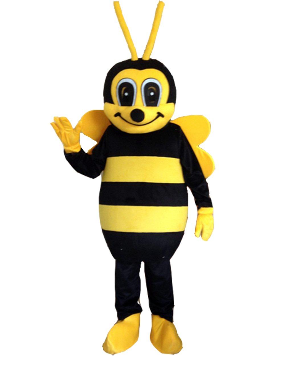 Bee Mascot Costume Bee Costume Adult Halloween Fancy Dress (XX-Large)