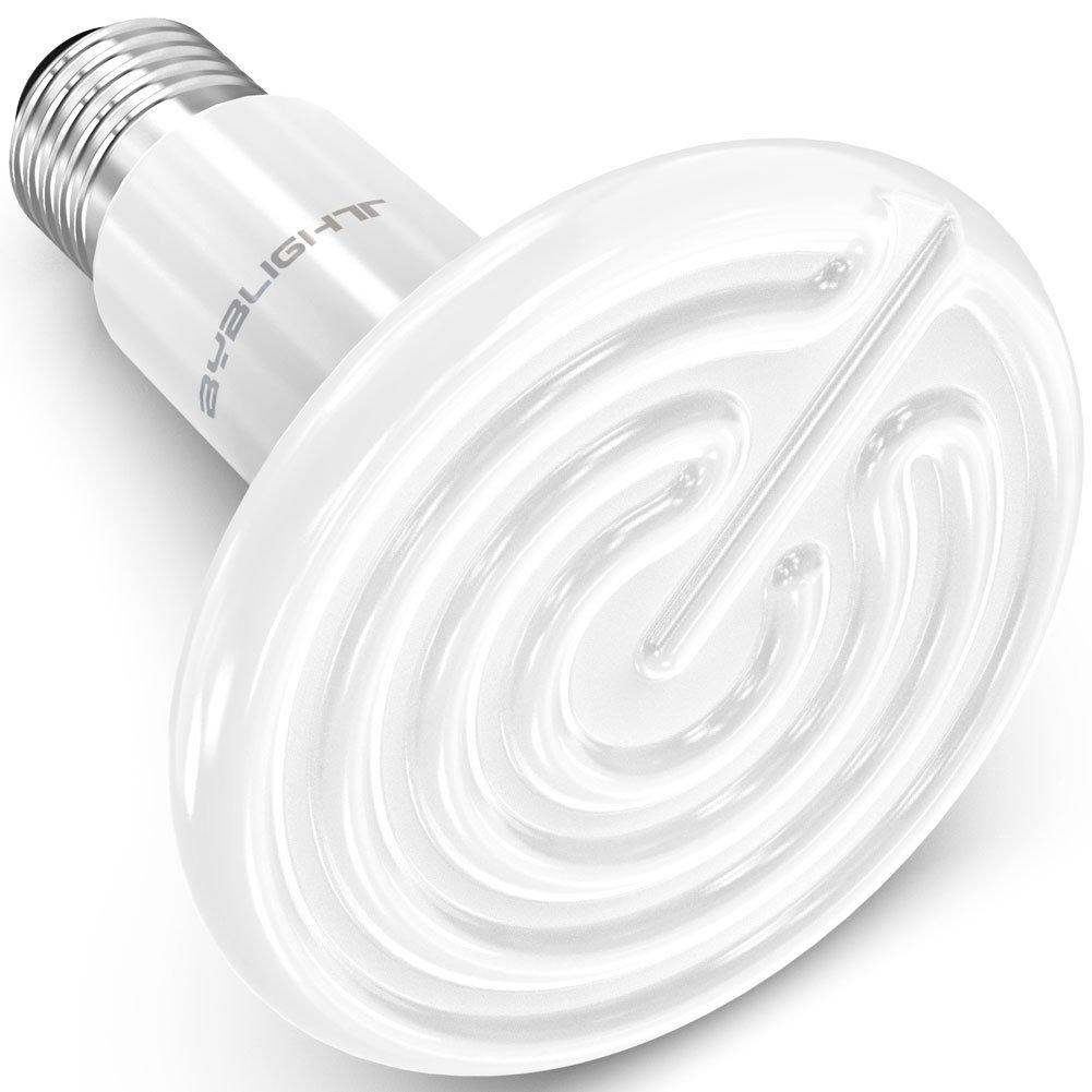 BYB 150W 110V Ceramic Infrared Heat Emitter Brooder Coop Pet Infrared Lamp Bulb (White)