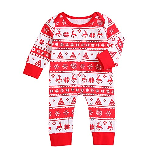 7e1f76cb0fa6 Amazon.com  Christmas Romper for Infant Toddler Baby Boys Girls ...