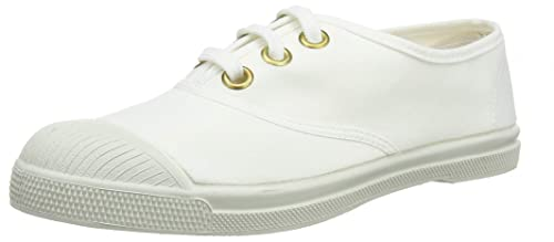 18a9f712100275 Bensimon Tennis Lacet Golden Eyelet Baskets Femme ,Blanc (Blanc 0101) , 36  EU