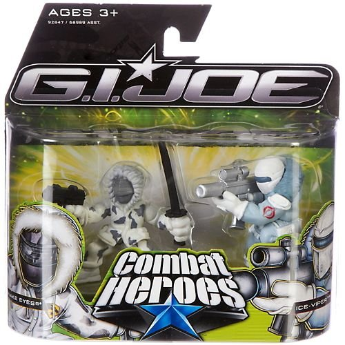G.I. Joe The Rise of Cobra Combat Heroes 2-Pack Snake Eyes & Ice-Viper (Gi Joe Rise Of Cobra Cobra Commander)