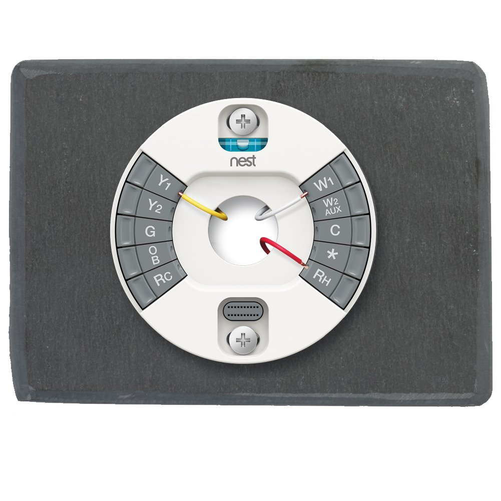 Koyal Wholesale Thermostat Trim Plate for Nest, Wall Plate (Rectangle 6'' x 4.33'', Slate Rock) by Koyal Wholesale (Image #4)