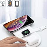 Wireless Charging Pad, 3 in 1 10W Qi Fast Wireless Charger Mat Compatible with Airpods Apple Watch Series 1 2 3 4 iPhone Xs Max Xr X 8 Plus Samsung S10 S9