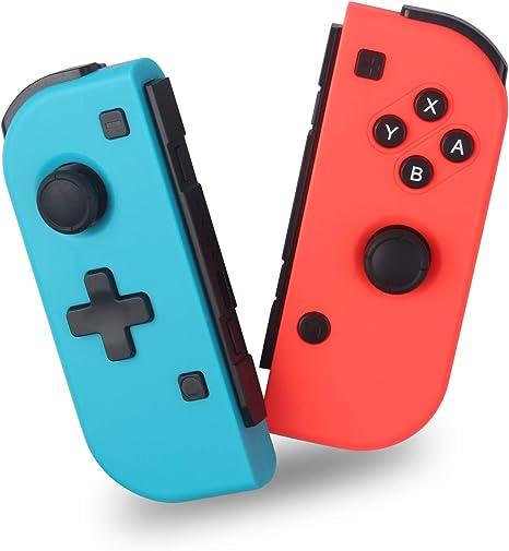 Wireless Controller for Nintendo Switch, Mando Pro Controlador Mando Inalámbrico Gamepad, No Original, Izquierda y derecha, rojo y azul: Amazon.es: Videojuegos