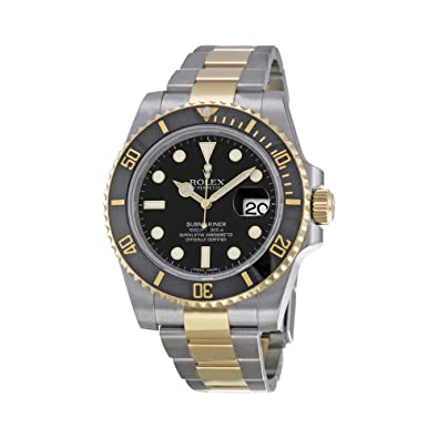 8a0e15b119cef Amazon.com: Rolex Submariner Black Index Dial Oyster Bracelet Mens Watch  116613BKSO: Jewelry