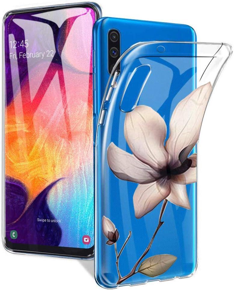 Coque Samsung Galaxy A50Doux TPU Silicone Transparent Téléphone Arrière Housse