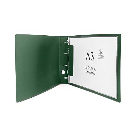 Clam - archivador horizontal para hojas y sobres A3 con tamaño máximo de 30,5