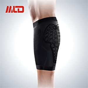 B-G Single Calf Compression Sleeve for Men,Women&Runners Sports Legpad for Running Cycling Maternity Travel Helps Shin Splints Wear Anywhere Everyday