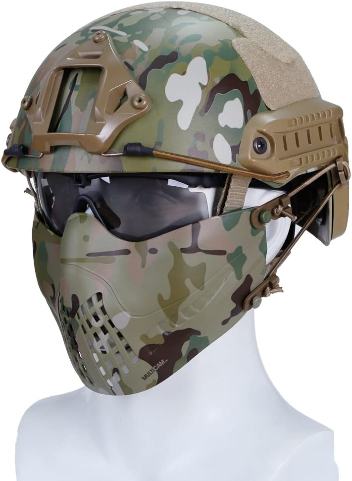 Details about  /FAST MICH US Army Ballistic Helmet Hat Tactical CS Hunting ABS Helmet Protection