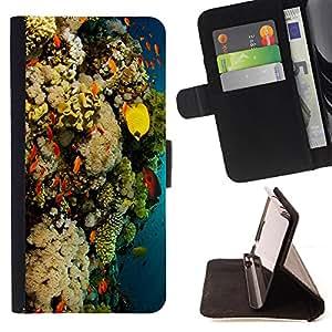 Devil Case- Estilo PU billetera de cuero del soporte del tir¨®n [solapa de cierre] Cubierta FOR Samsung Galaxy S3 MINI I8190- Fish Water Pattern Colorful