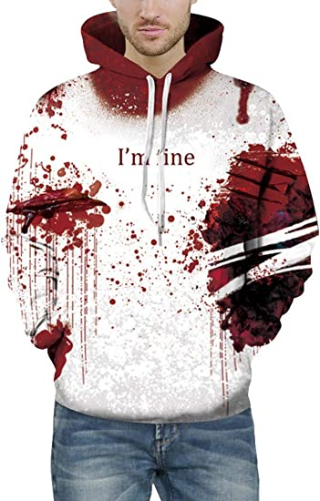 authentic quality first rate popular brand Prettyard Men Women Hip Hop Dark Bloody Red I'm fine Saying White ...