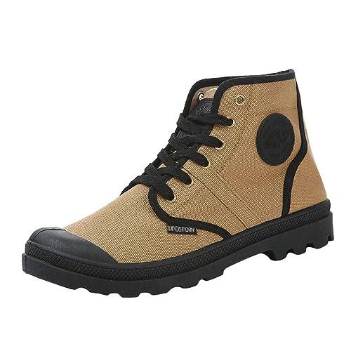 YWLINK Zapatos De Lona Hombre Calzado Casual Zapatilla Alta ...
