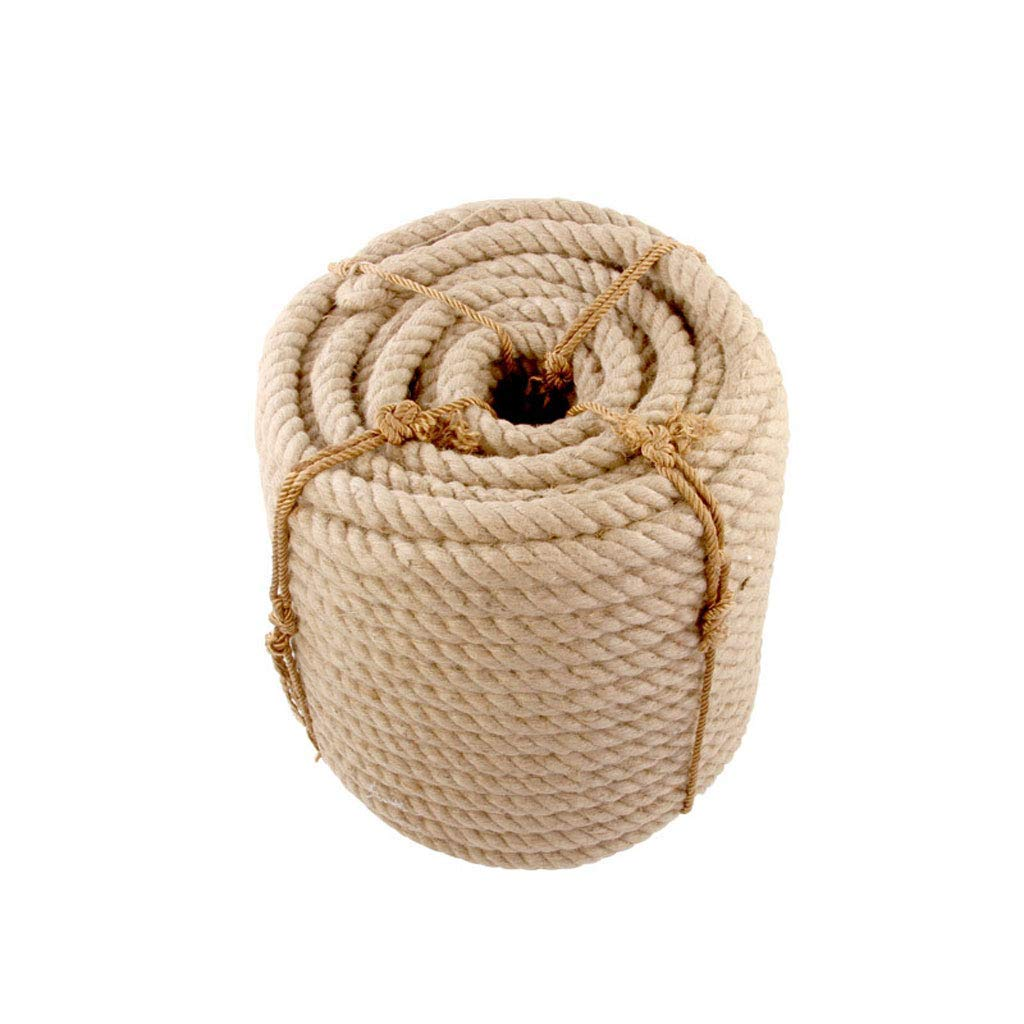 Safety Rope Hemp Rope - 26mm/30mm 5-10m Jute Ropes Twine Natural Hemp Cord Rustic Country Craft DIY Handmade Accessories Nordic Home Decor Cat Pet Scratching /-/ (Size : 26MM/6M) (Size : 22MM/5M)