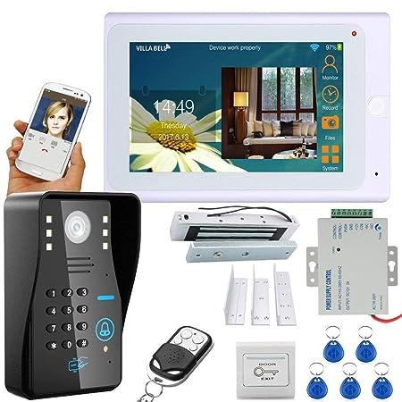 "7/"" WiFi RFID Password Video Phone intercom Doorbell IP Camera IR Alarm System"