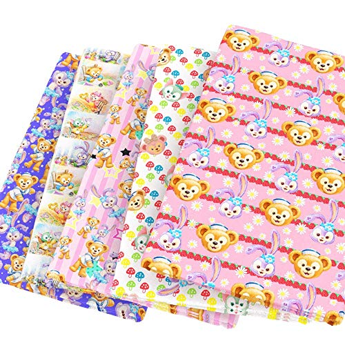 Patchwork Accessories David Gilmours 100% Cotton Fabric 50145CM Rabbit Bear Patchwork for Tissue Kids Home Textile for Sewing Tilda Doll,c4067 (Random)