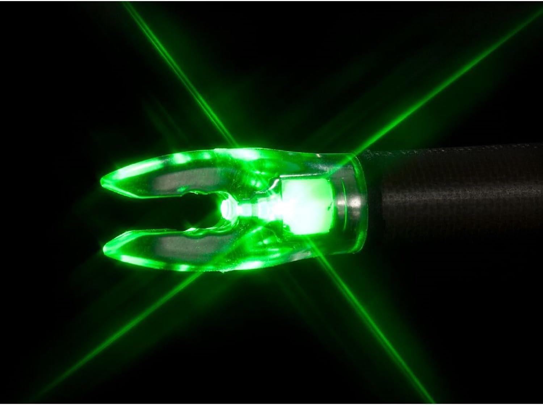 Nockturnal Fit Universal Size Green Lighted Arrow Archery Nocks, 3 Pack