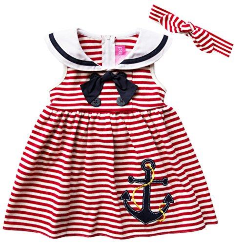 Good Lad Infant Girls Nautical Dress with Headband and Legging (18M) -