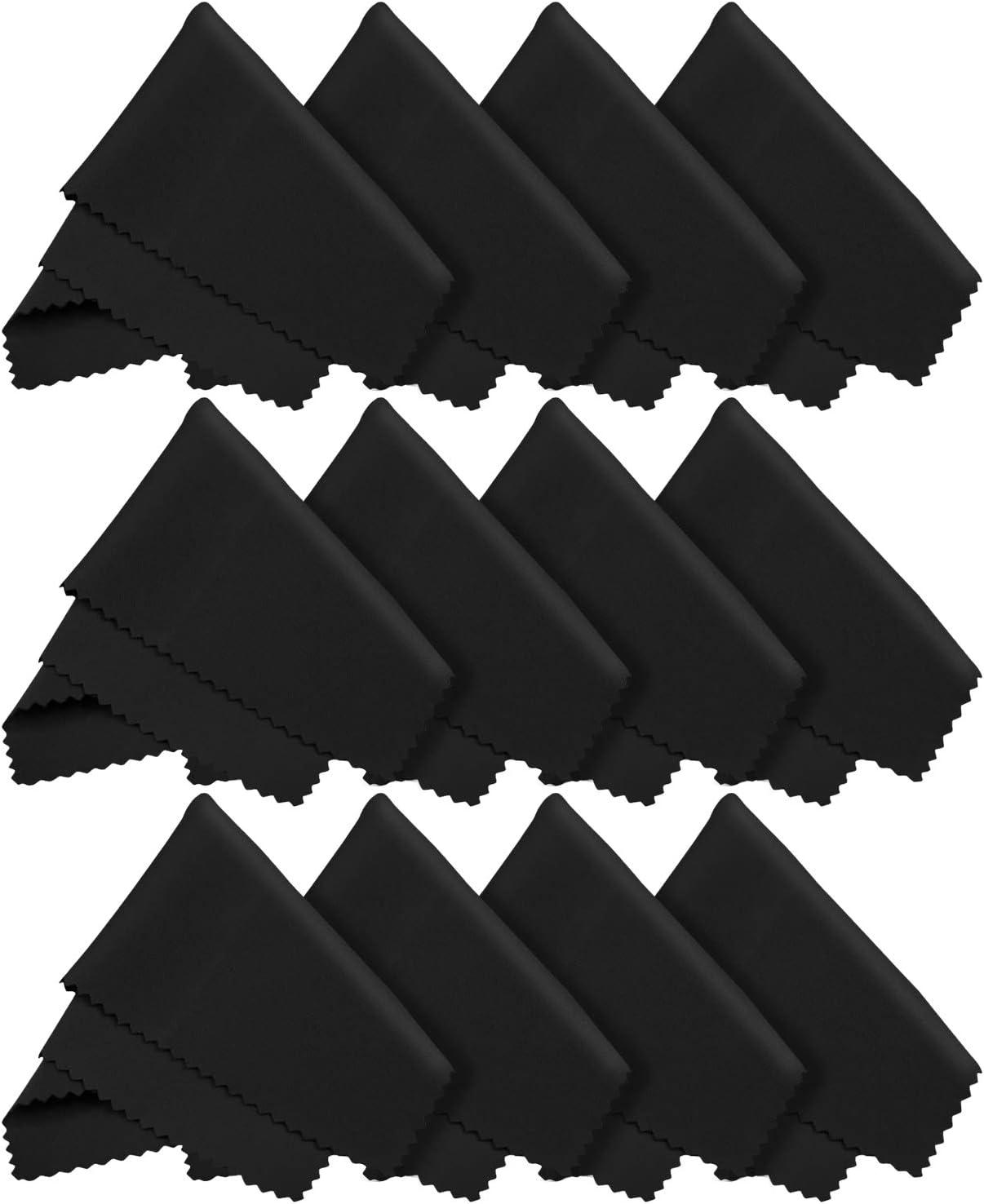 12x Letsswipethat Mikrofasertücher 20x20 Cm Mikrofaser Brillenputztuch Kamera Objektiv Microfaser Reinigungstücher Lcd Led Tv Bildschirm Microfasertuch Reinigung Laptop Pc Display Reiniger Tuch Bürobedarf Schreibwaren