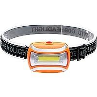 iTimo Mini 3 Modes Waterproof 400Lm LED Flashlight outdoors Headlight Headlamp head light lamp Torch Lanterna with Headband(Orange)