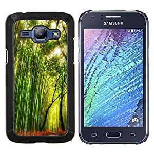 LECELL--Funda protectora / Cubierta / Piel For Samsung Galaxy J1 J100 -- Planta Naturaleza Forrest Flor 66 --