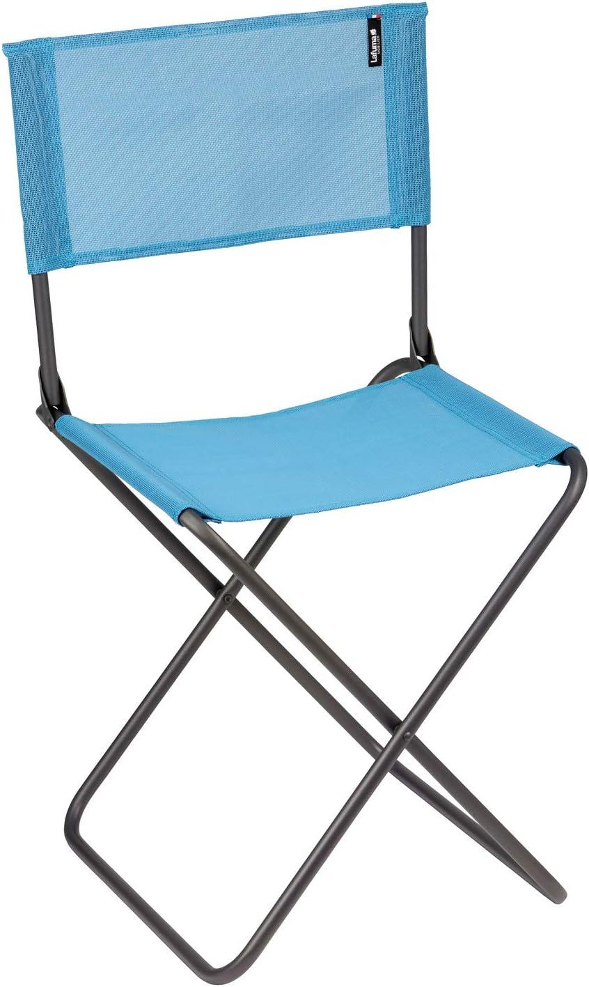 Lafuma Silla plegable de camping, compacta, CNO, Texplast, Color: Azul, LFM2834 8546