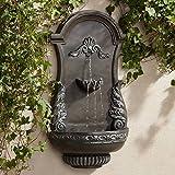 "Tivoli Grey Ornate 33"" High Wall Fountain"