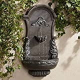 John Timberland Tivoli Bronze Ornate 33' High Wall Fountain