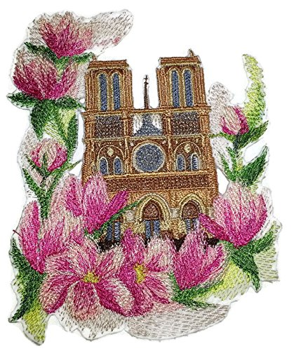 Custom and Unique Blooms and Butterflies [Notre Dame And Magnolias In Watercolor] Embroidered Iron on/Sew patch [6.8