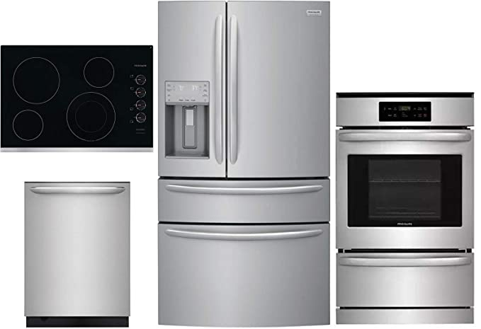 Amazon.com: Frigidaire 4 Piece Kitchen Appliance Package ...