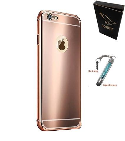 custodia per iphone 7 metal aluminum frame rosa oro