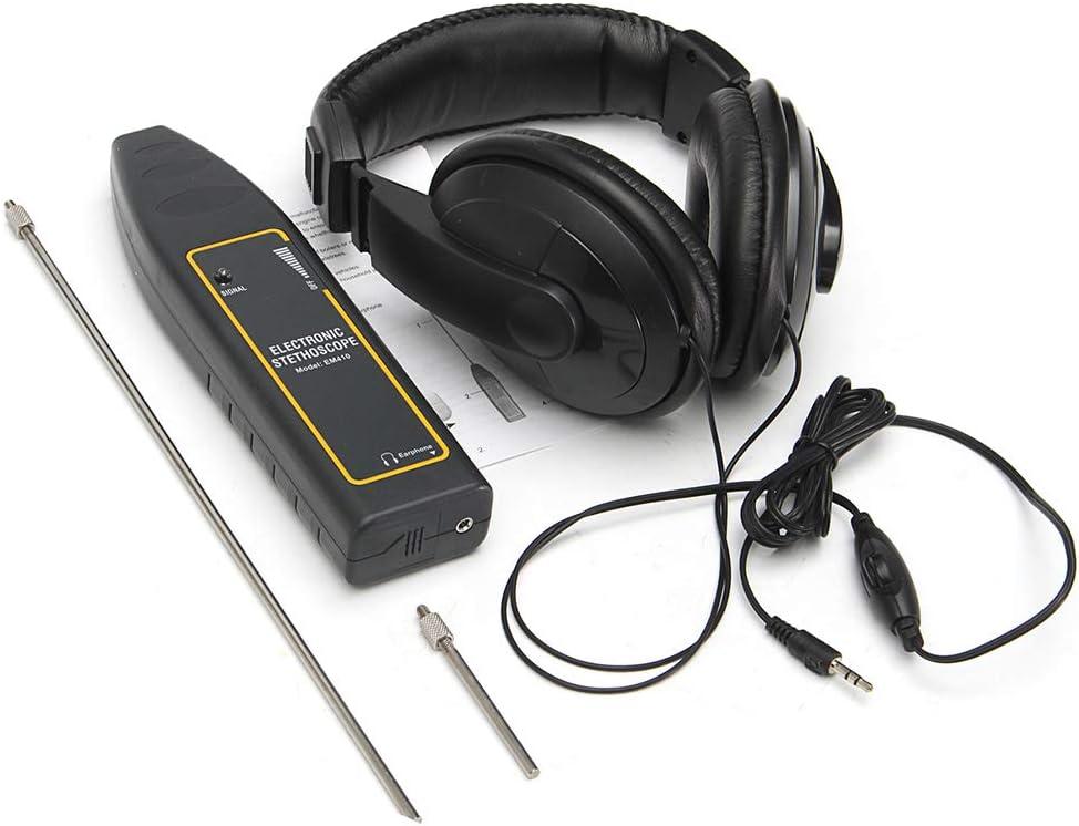Leepesx 100Hz ~ 10kHz Detector de fugas automático Tubo de agua del coche Estetoscopio electrónico Equipo de detección de auriculares