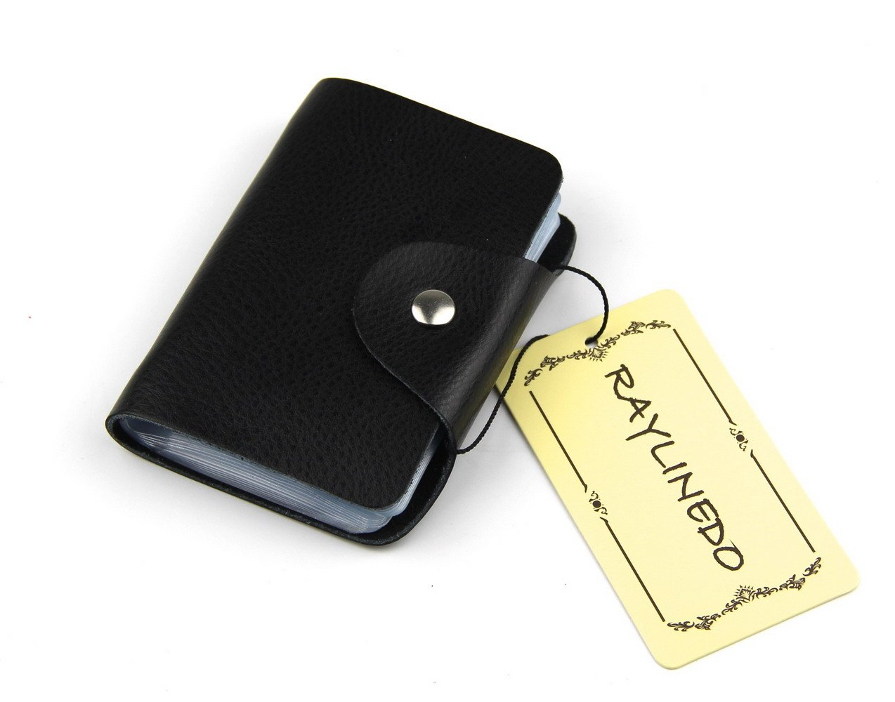 raylinedo Unisex Multi Farbe Echtes Leder Kreditkartenetui Slim Business Card Case Tasche Super Dünn Weich minimalistisch Kartenhalter mit 26Kartenfächer 1 Packung Canvas Pink